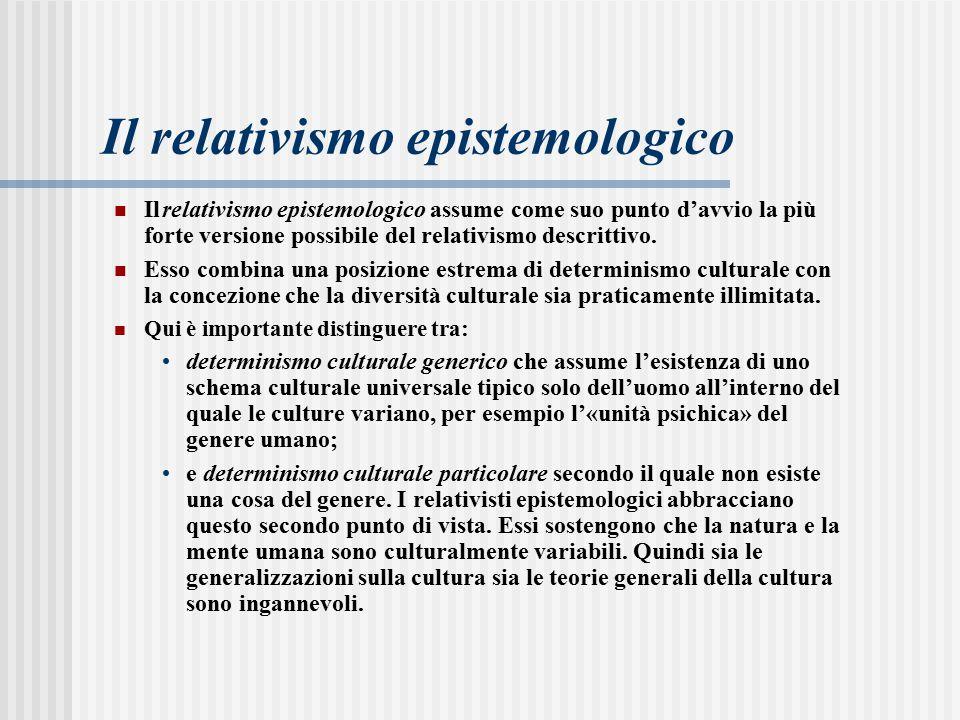 Il relativismo epistemologico