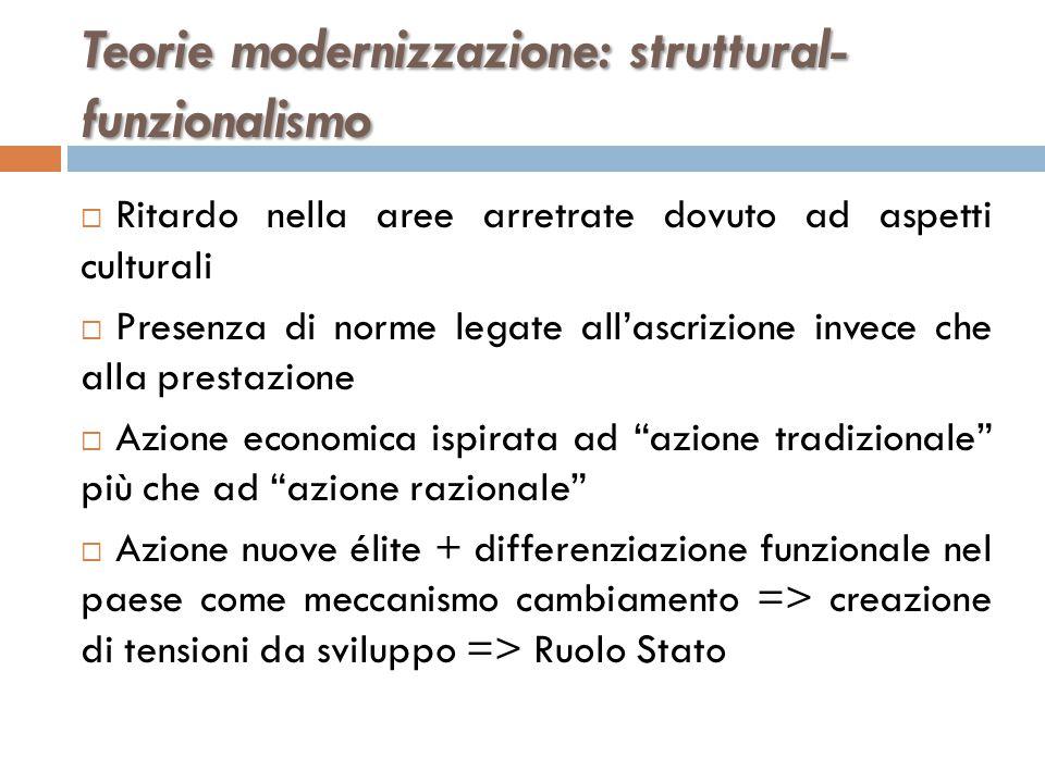 Teorie modernizzazione: struttural-funzionalismo