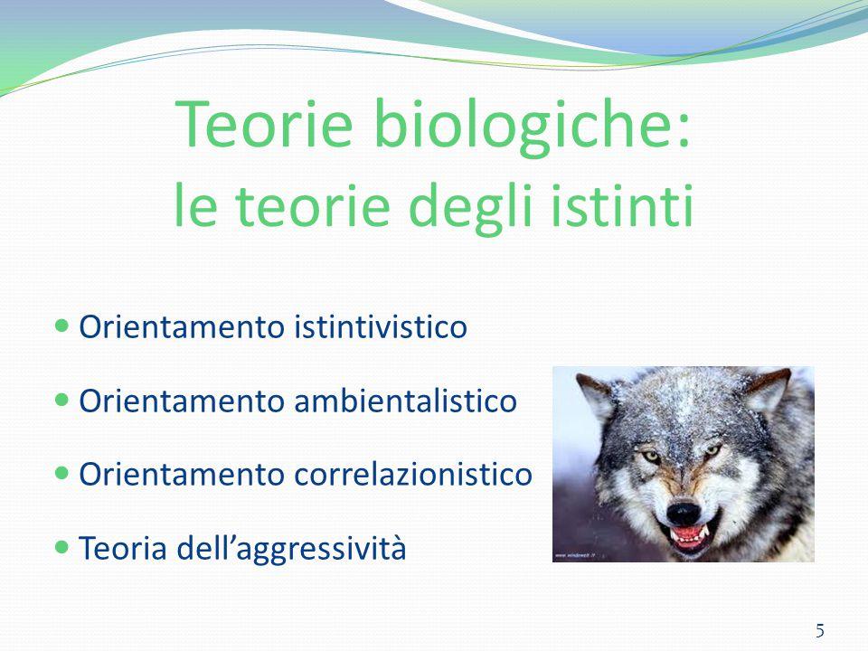 Teorie biologiche: le teorie degli istinti