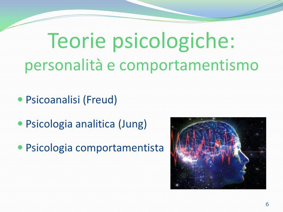 Teorie psicologiche: personalità e comportamentismo