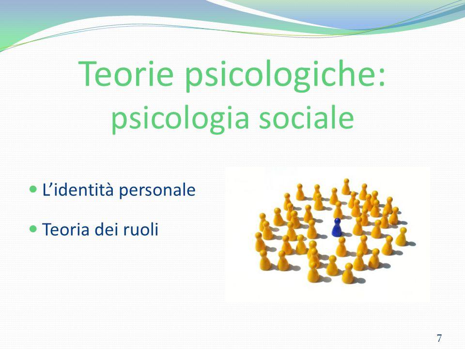 Teorie psicologiche: psicologia sociale