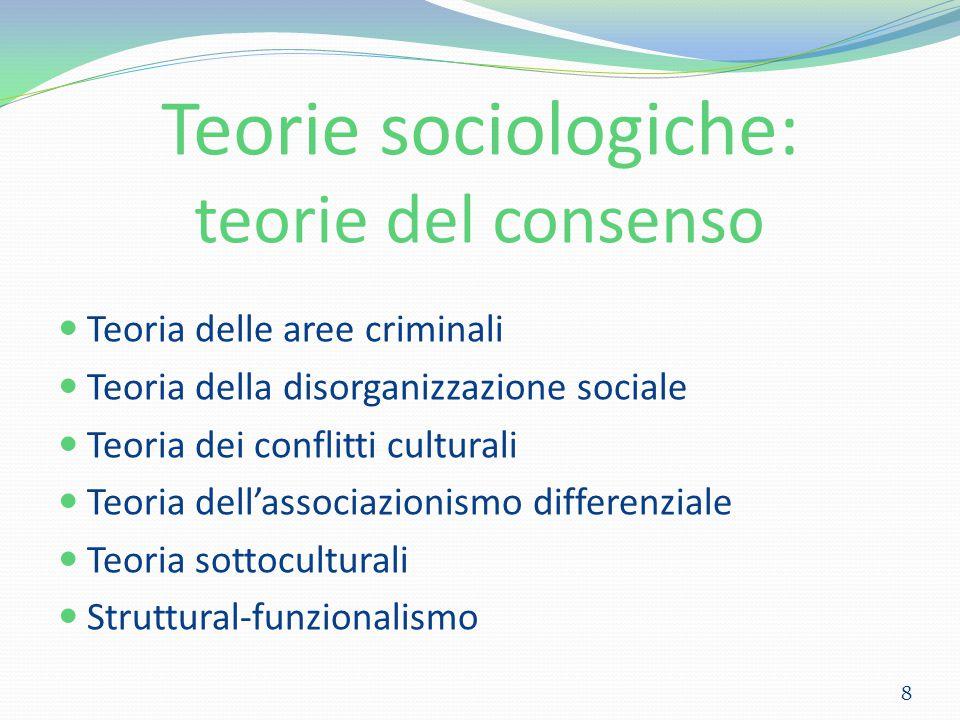 Teorie sociologiche: teorie del consenso