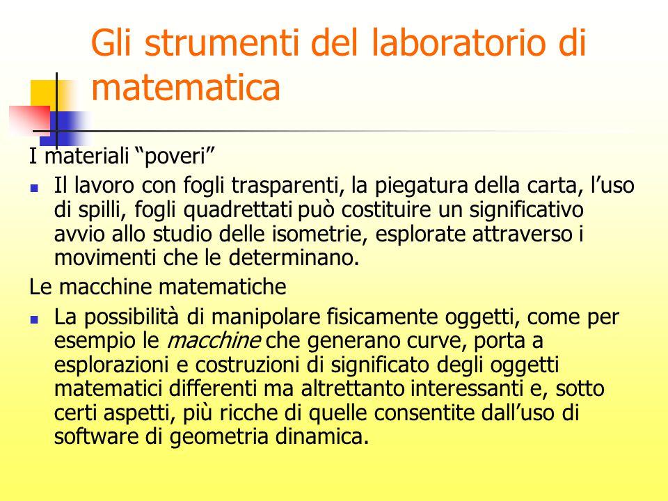 Gli strumenti del laboratorio di matematica