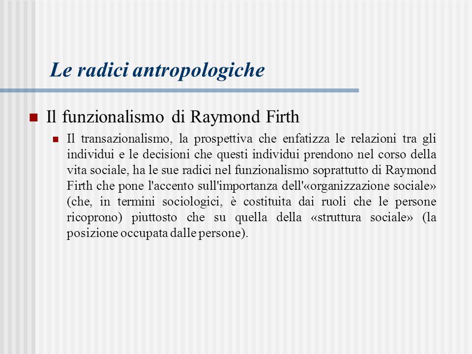 Le radici antropologiche