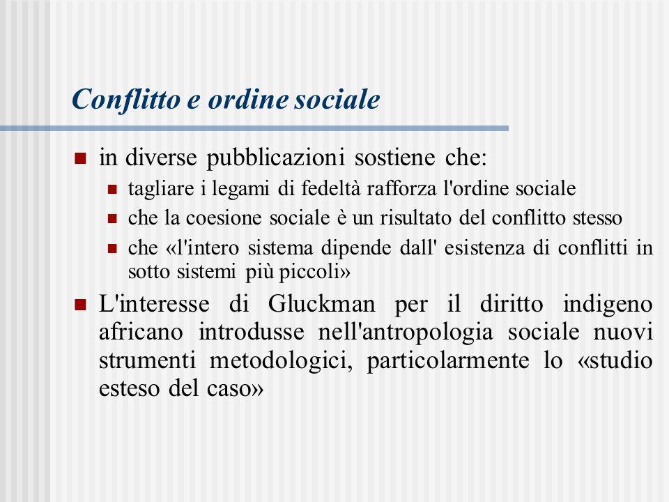 Conflitto e ordine sociale
