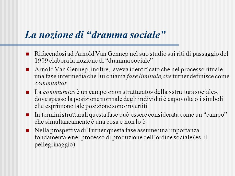 La nozione di dramma sociale