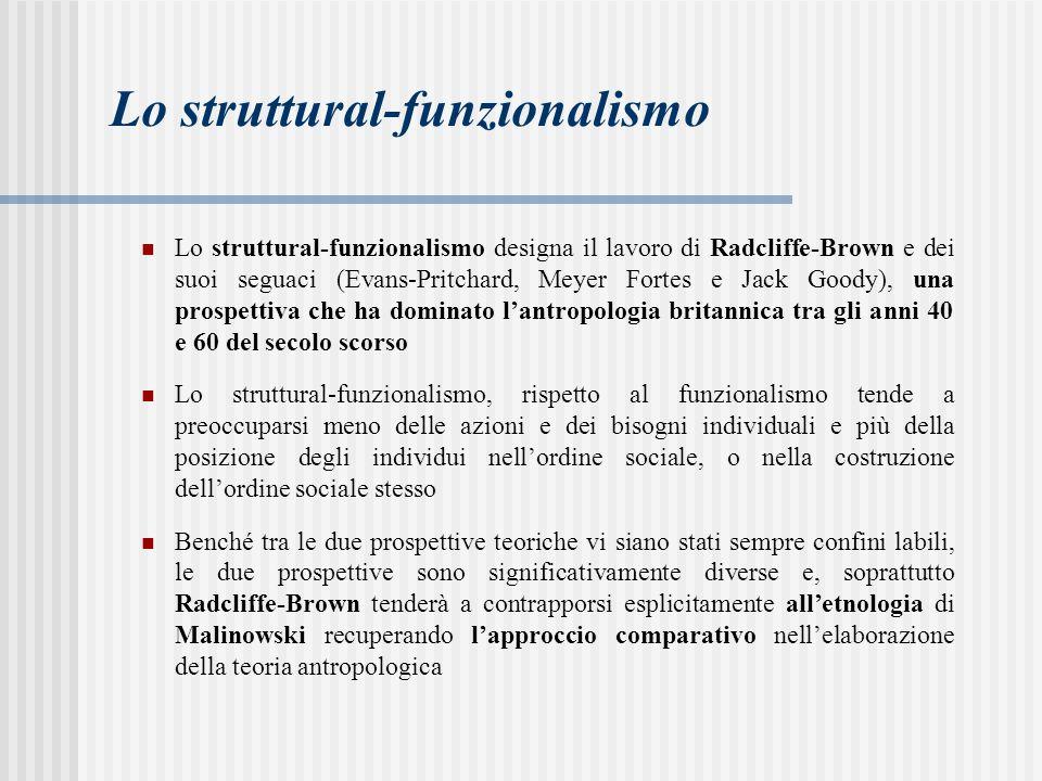 Lo struttural-funzionalismo