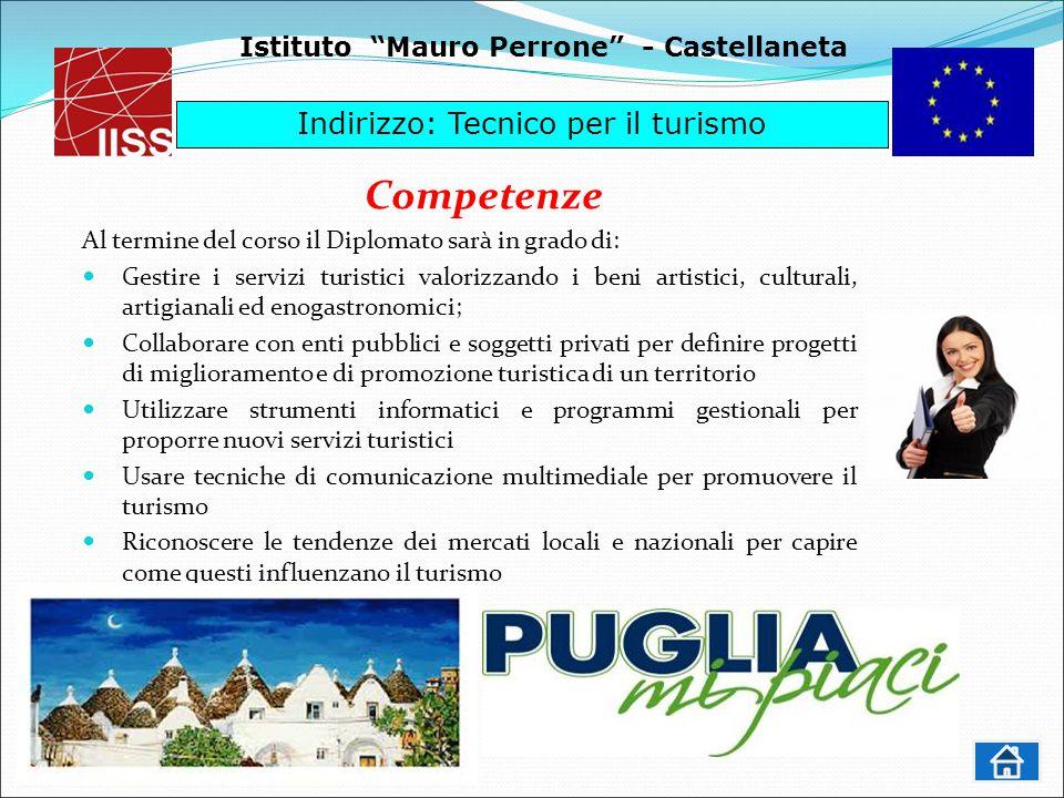 Competenze Indirizzo: Tecnico per il turismo