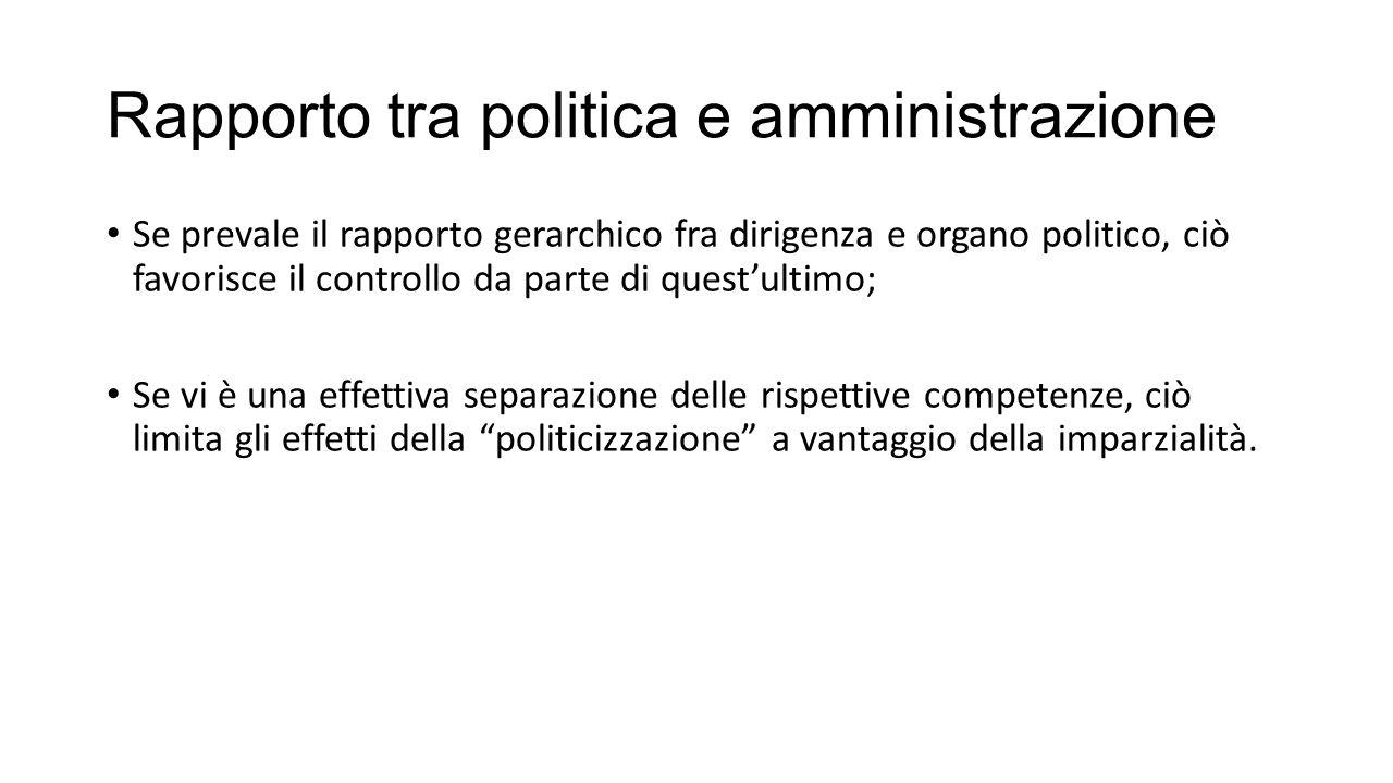 Rapporto tra politica e amministrazione
