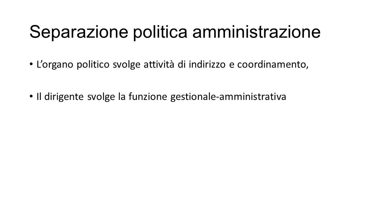 Separazione politica amministrazione