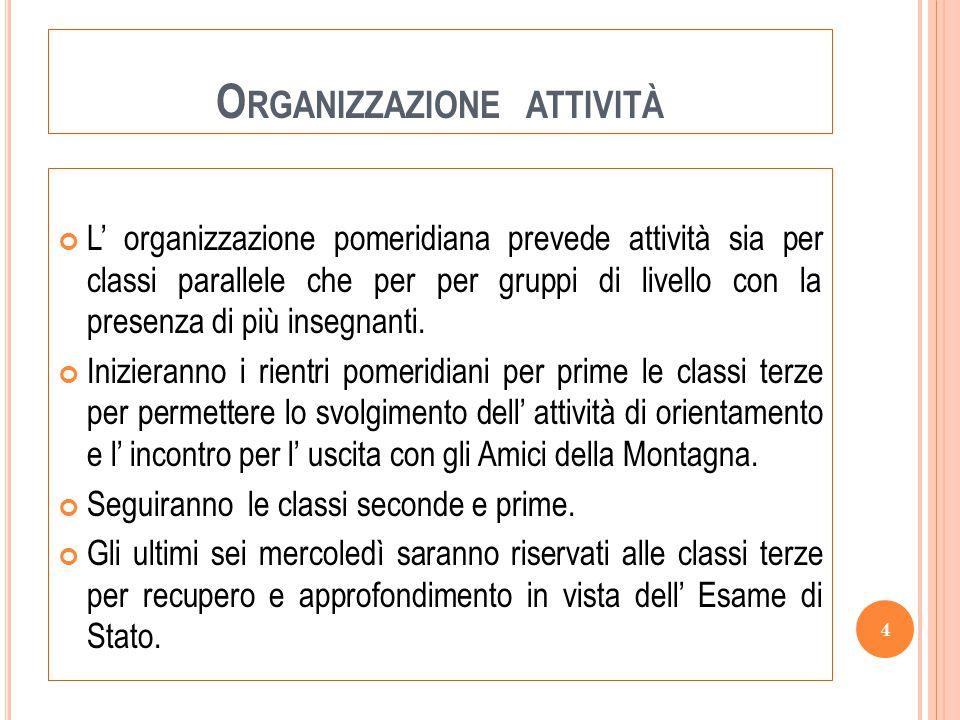 Organizzazione attività