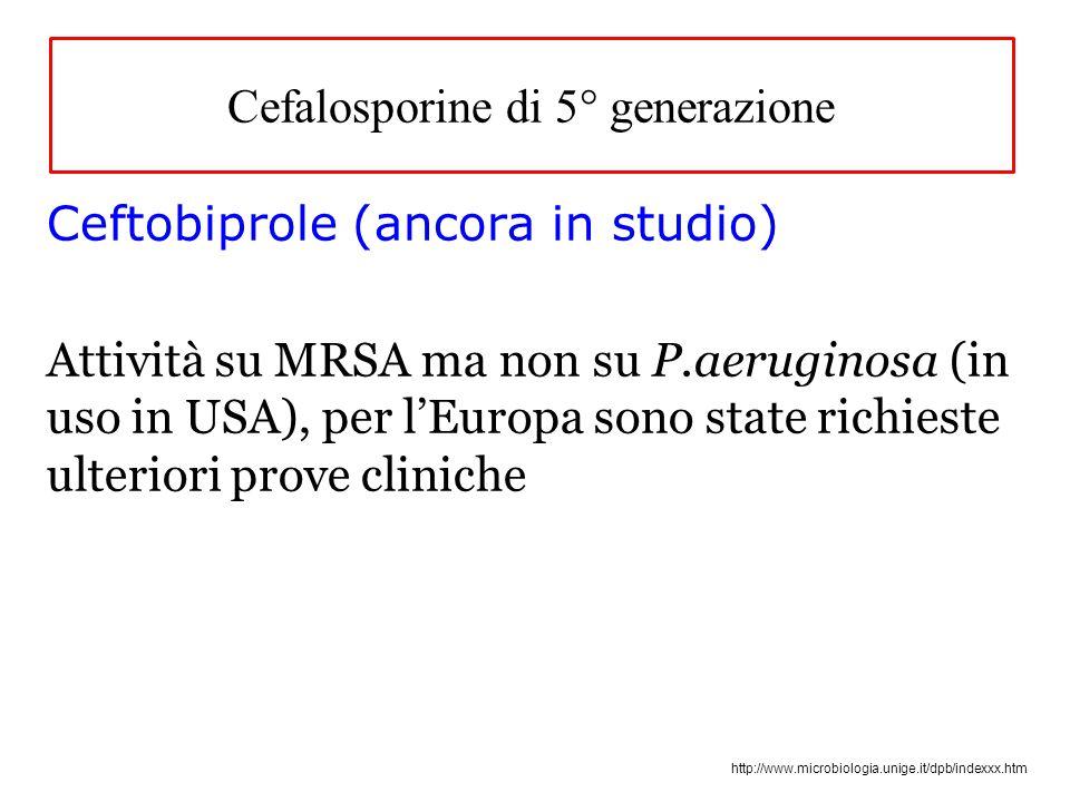 Cefalosporine di 5° generazione
