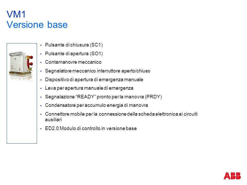 VM1 Versione base Pulsante di chiusura (SC1)