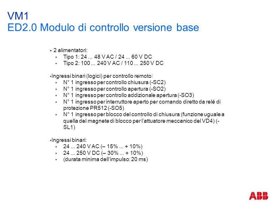 VM1 ED2.0 Modulo di controllo versione base