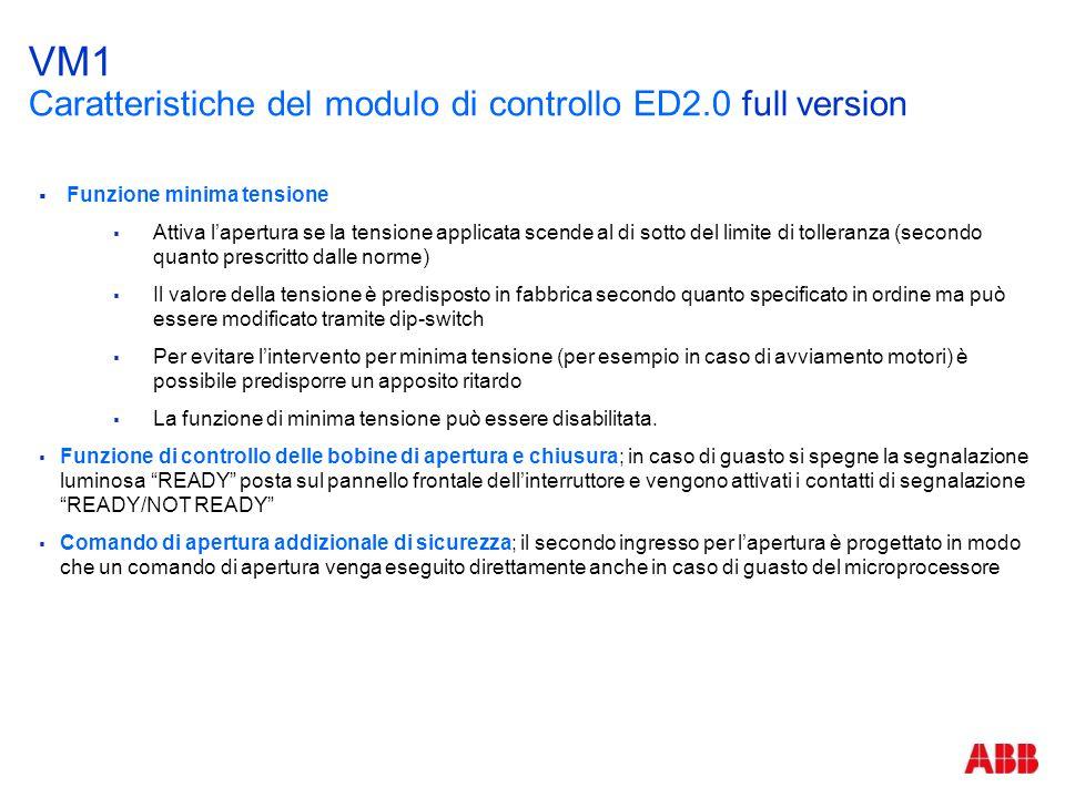 VM1 Caratteristiche del modulo di controllo ED2.0 full version