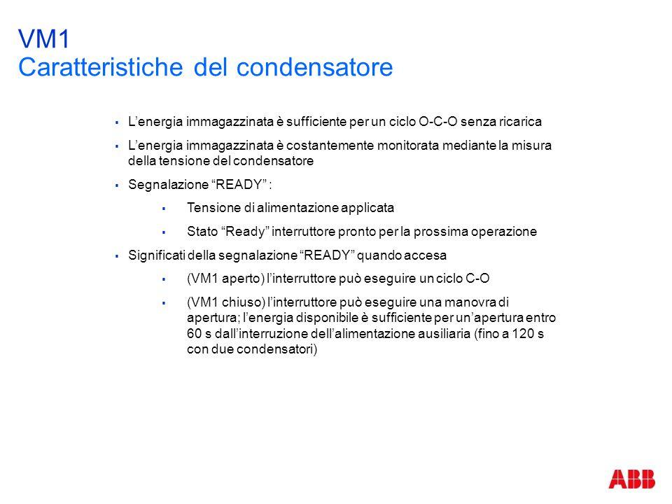 VM1 Caratteristiche del condensatore