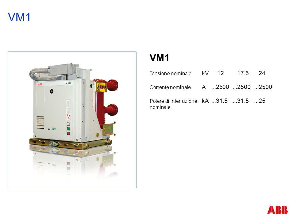 VM1 VM1 Tensione nominale kV 12 17.5 24