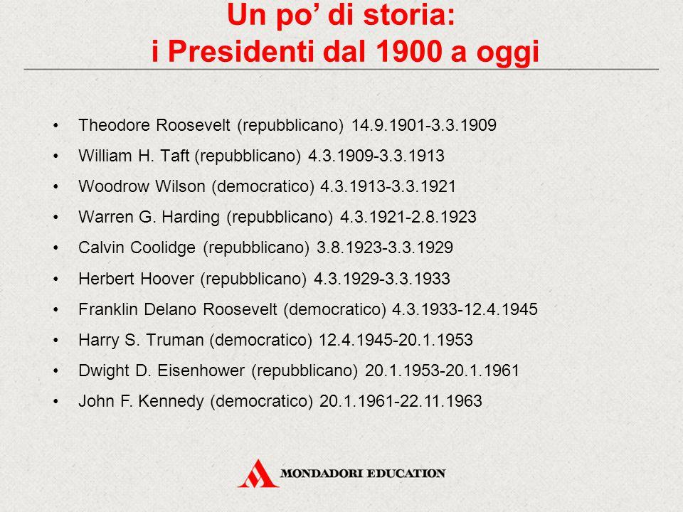 Un po' di storia: i Presidenti dal 1900 a oggi
