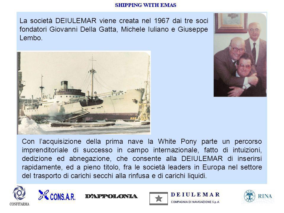 La società DEIULEMAR viene creata nel 1967 dai tre soci fondatori Giovanni Della Gatta, Michele Iuliano e Giuseppe Lembo.
