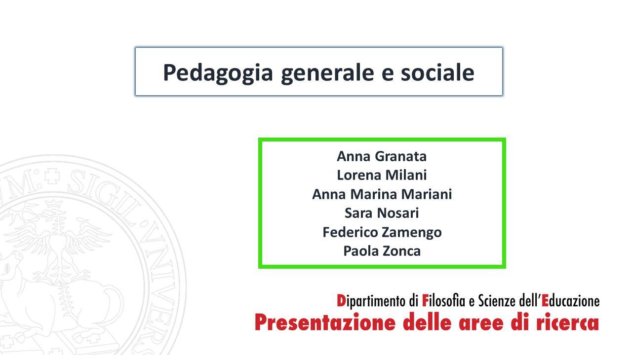 Pedagogia generale e sociale