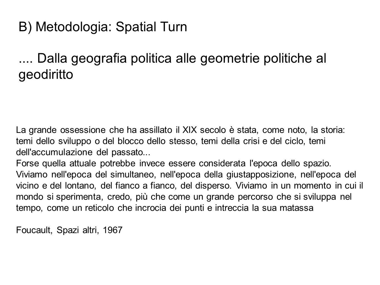 B) Metodologia: Spatial Turn