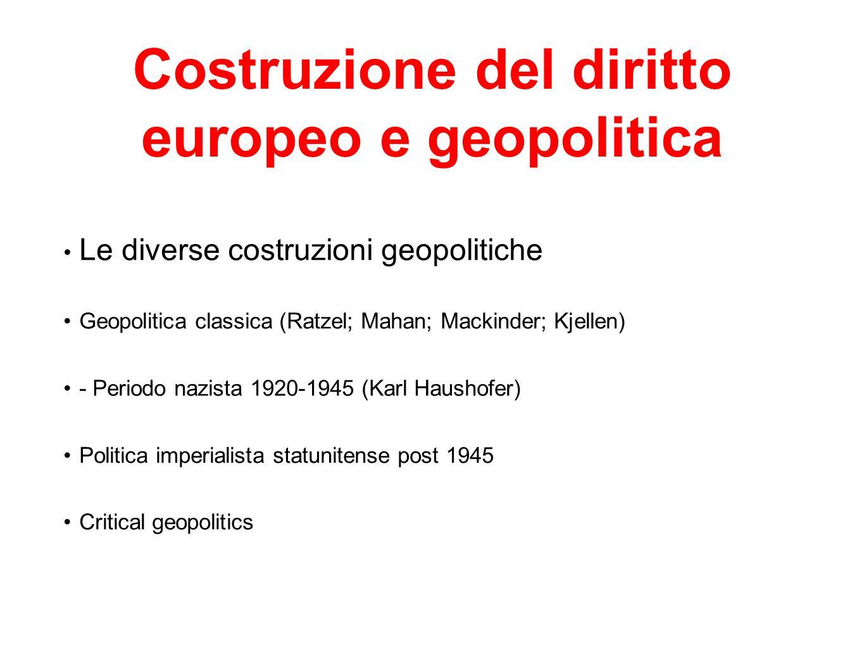 Costruzione del diritto europeo e geopolitica