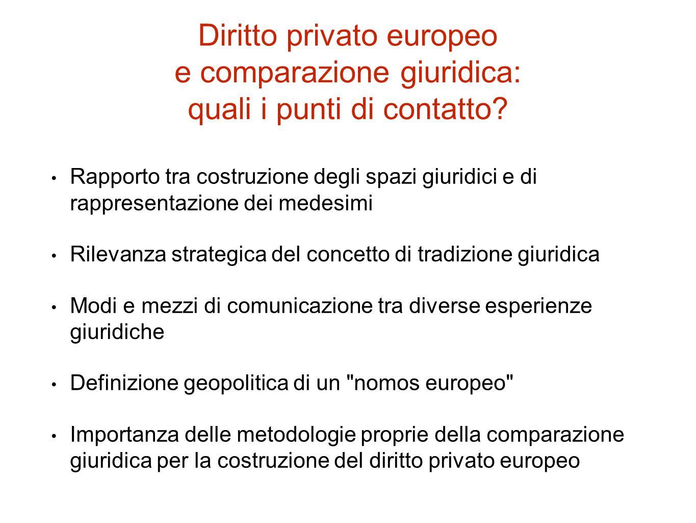 Diritto privato europeo e comparazione giuridica: quali i punti di contatto