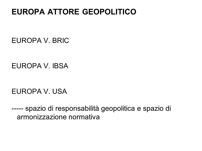EUROPA ATTORE GEOPOLITICO