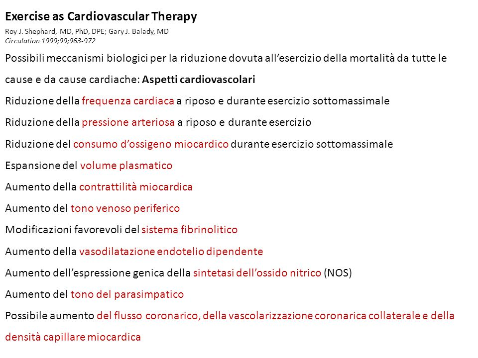 Exercise as Cardiovascular Therapy