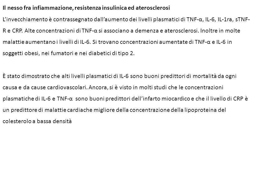 Il nesso fra infiammazione, resistenza insulinica ed aterosclerosi