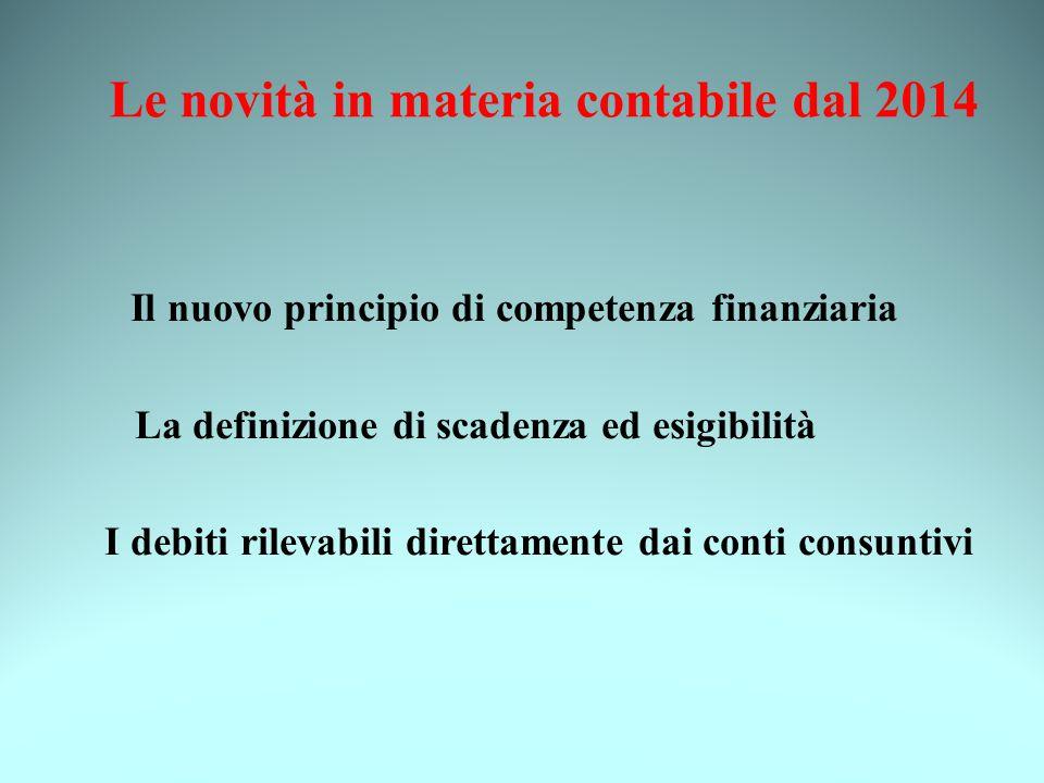Le novità in materia contabile dal 2014