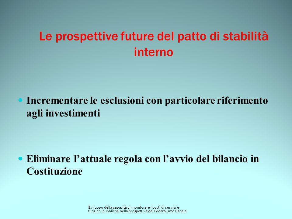 Le prospettive future del patto di stabilità interno