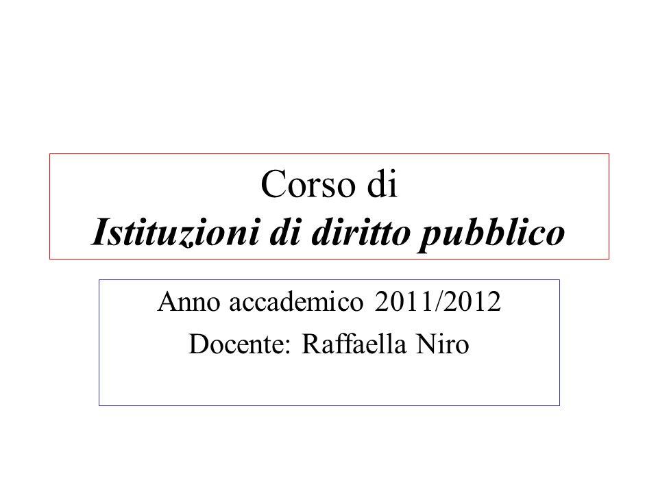 Corso di Istituzioni di diritto pubblico
