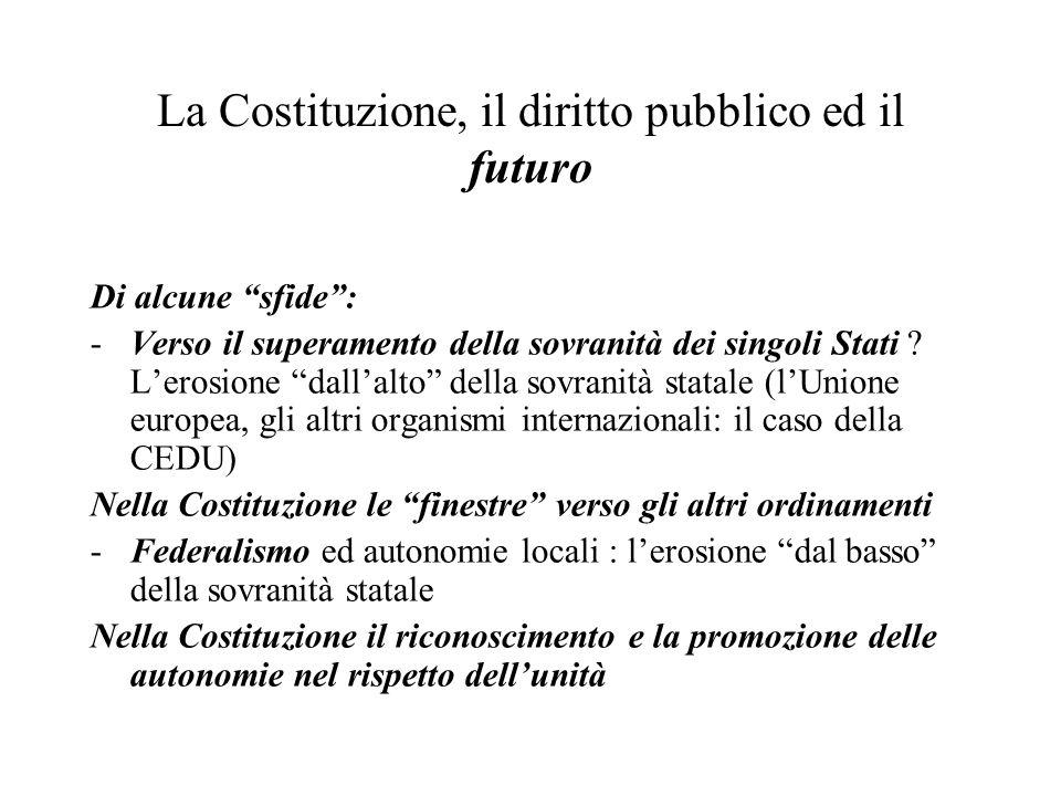 La Costituzione, il diritto pubblico ed il futuro