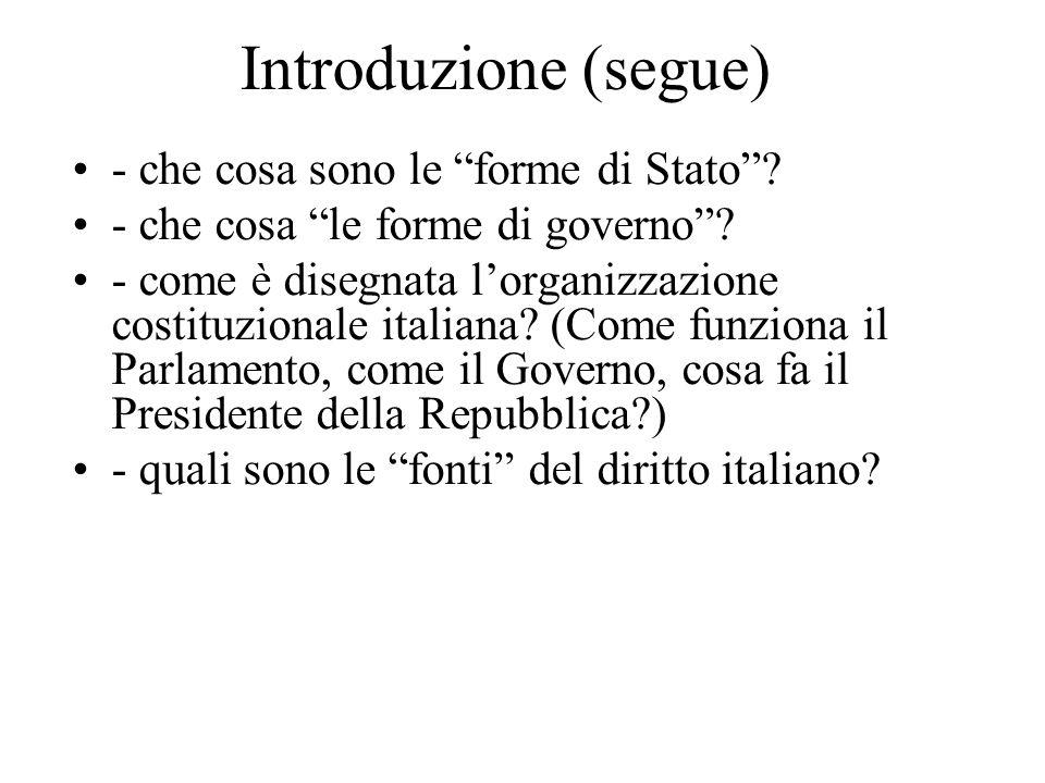 Introduzione (segue) - che cosa sono le forme di Stato