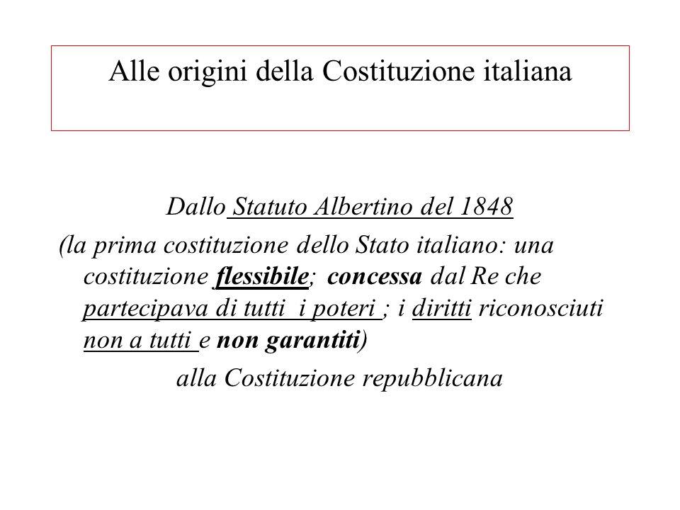 Alle origini della Costituzione italiana