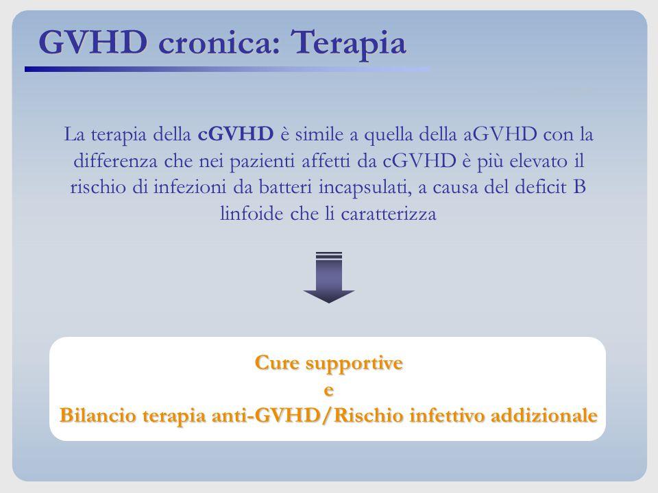 Bilancio terapia anti-GVHD/Rischio infettivo addizionale