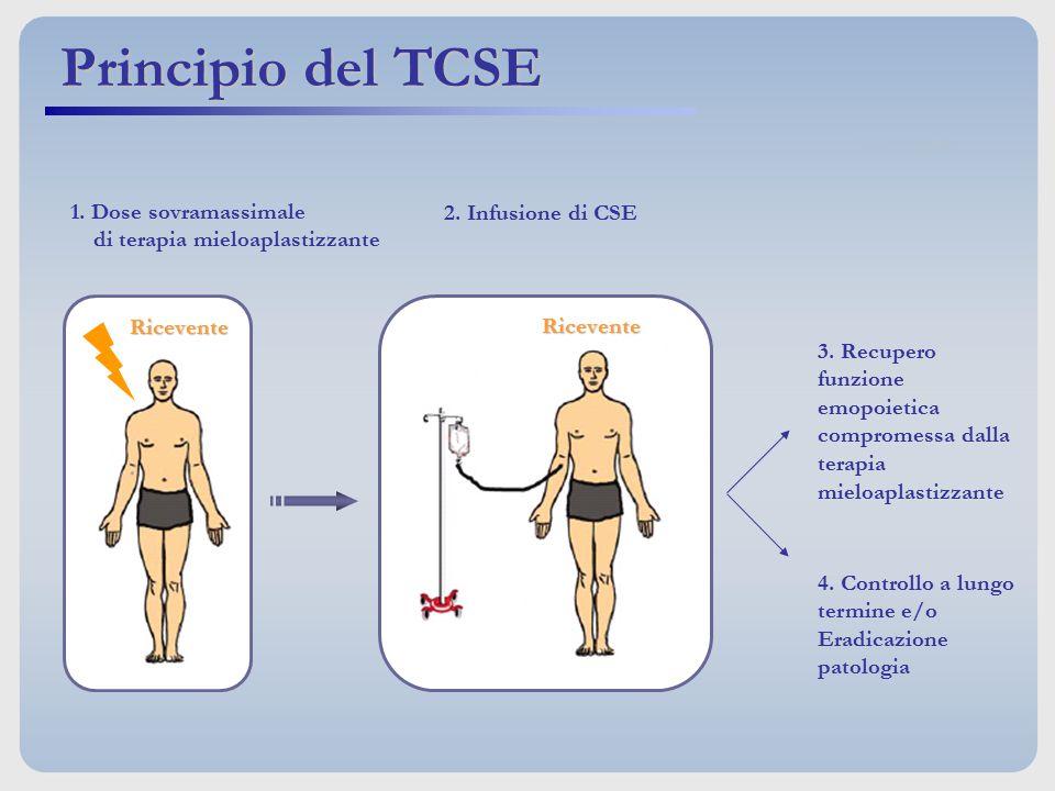 Principio del TCSE 1. Dose sovramassimale 2. Infusione di CSE