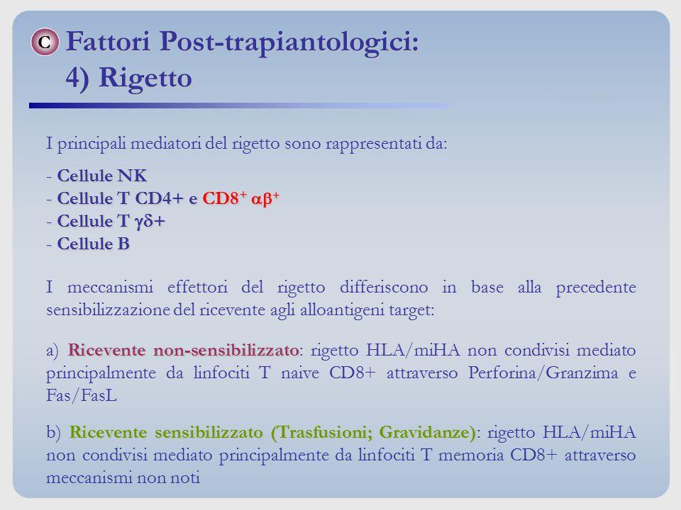 Fattori Post-trapiantologici: 4) Rigetto
