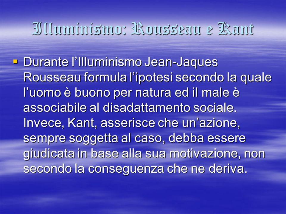 Illuminismo: Rousseau e Kant