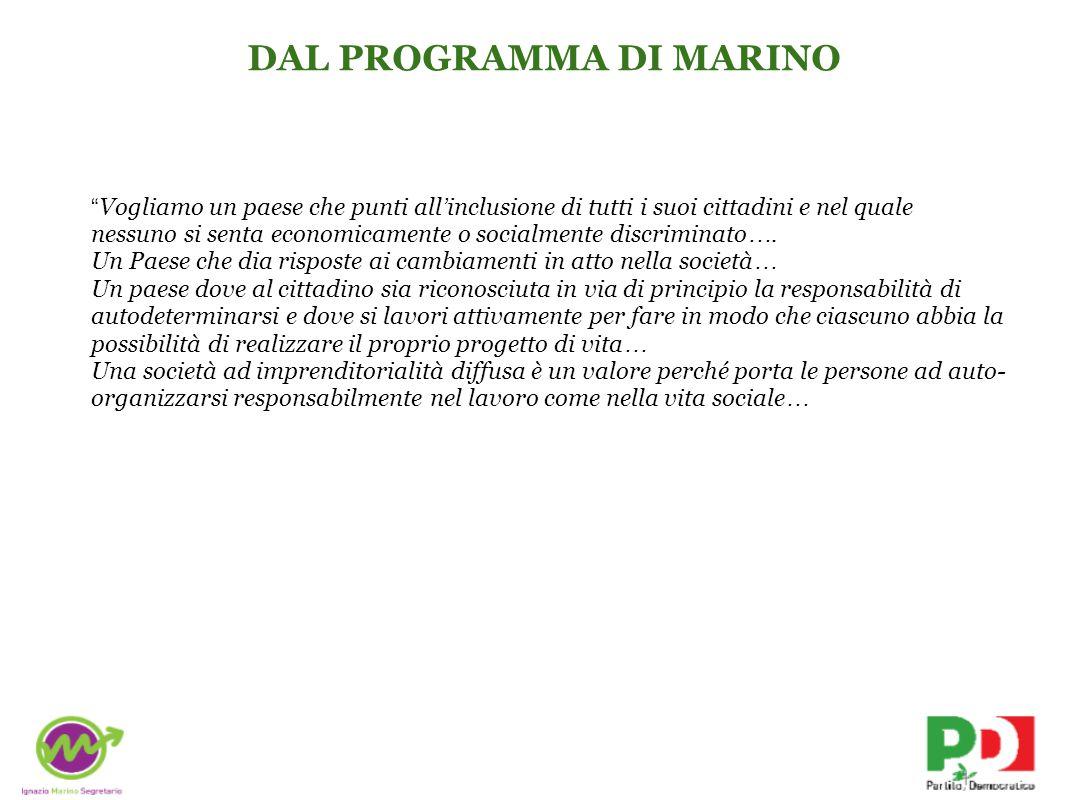 DAL PROGRAMMA DI MARINO