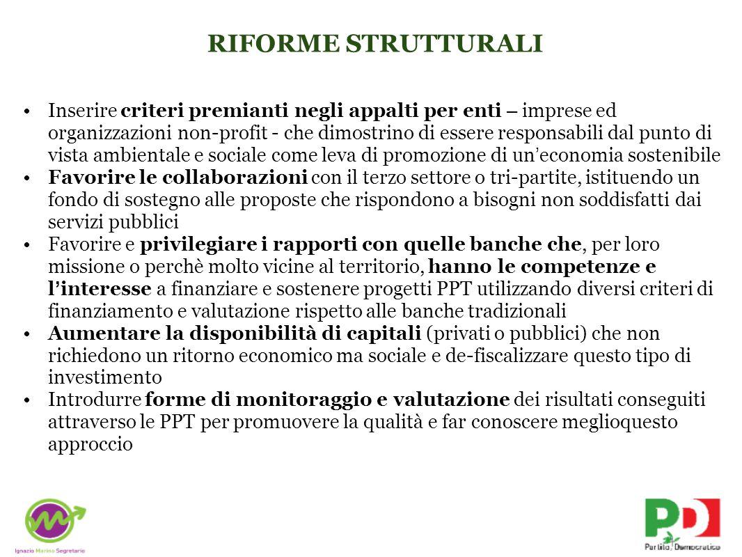 RIFORME STRUTTURALI