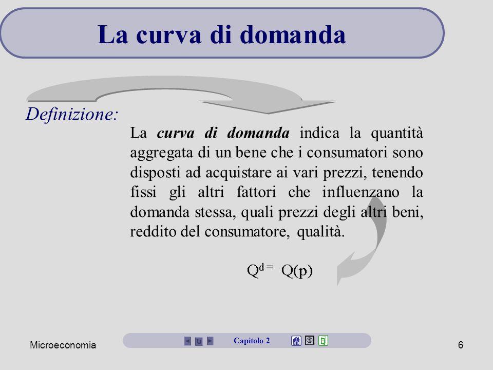 La curva di domanda Definizione: