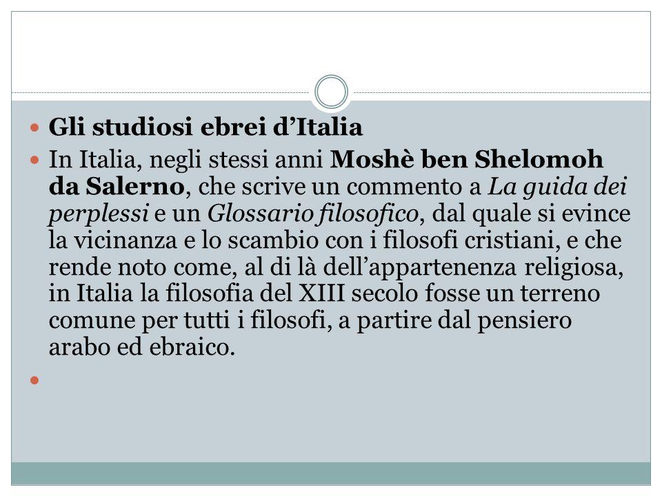 Gli studiosi ebrei d'Italia
