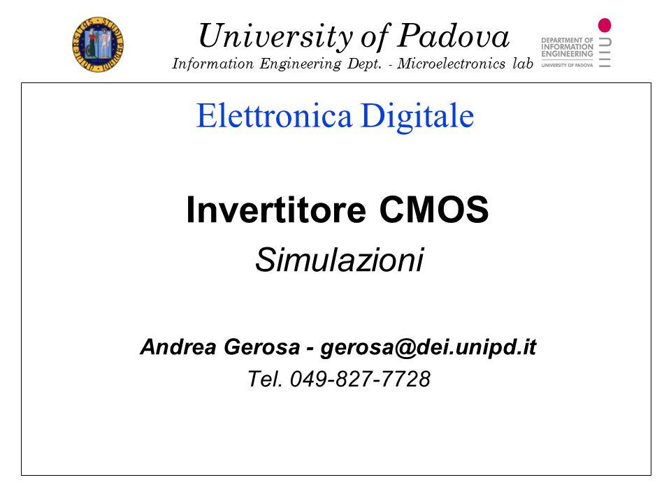 Andrea Gerosa - gerosa@dei.unipd.it
