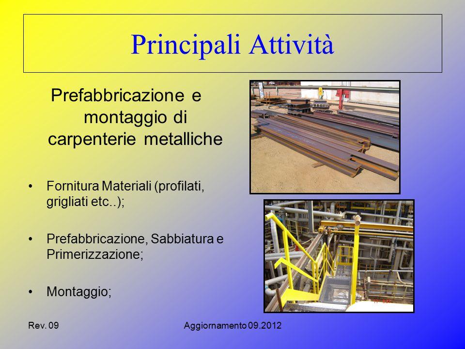 Prefabbricazione e montaggio di carpenterie metalliche