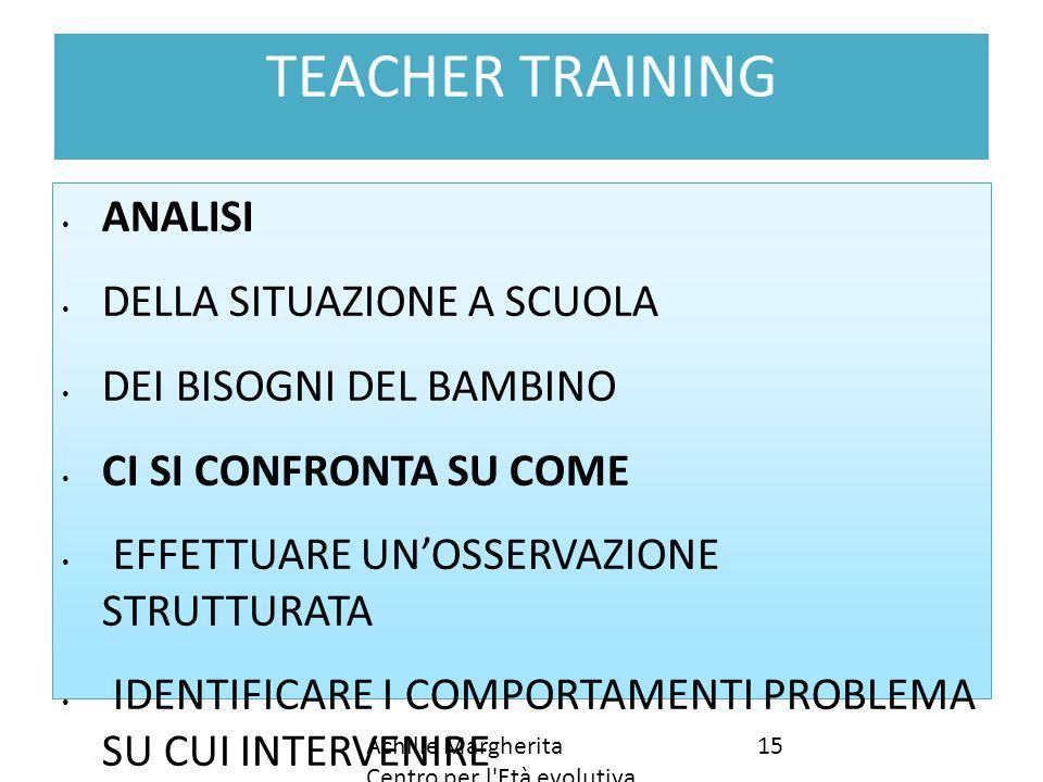TEACHER TRAINING ANALISI DELLA SITUAZIONE A SCUOLA