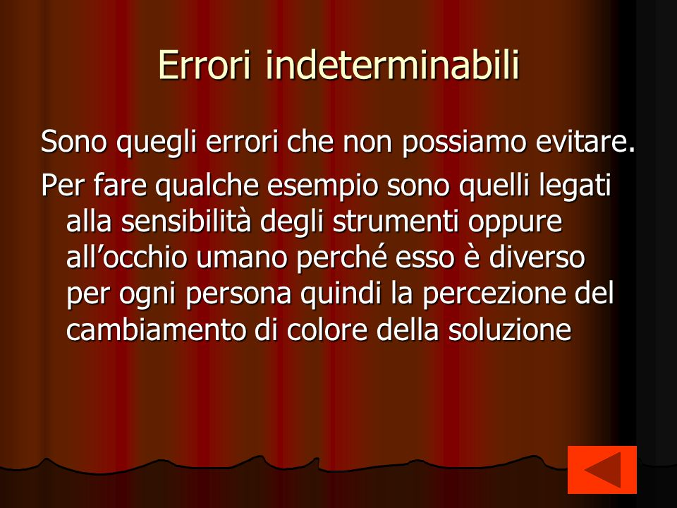 Errori indeterminabili