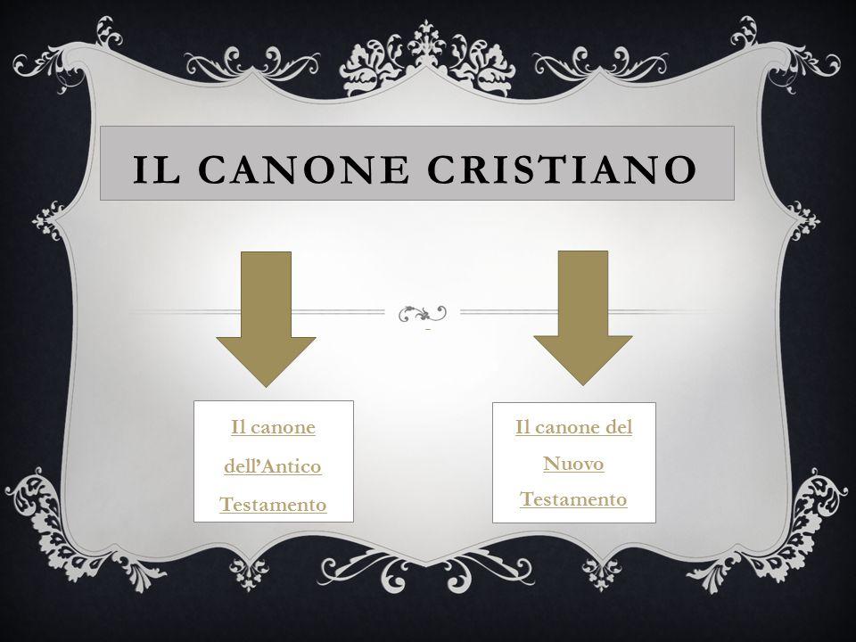 Il canone dell'Antico Testamento