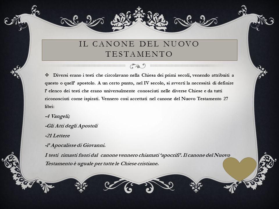 IL CANONE DEL NUOVO TESTAMENTO